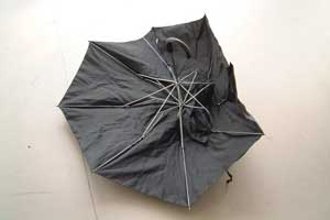 a.-The-Umbrella-Project,-Make-do-and-Mend-Found-and-Repaired-Umbrella,-Three-Colts-Gallery,-London-thumb